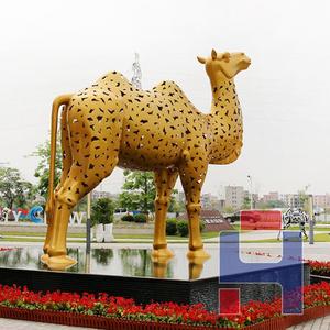 不锈钢骆驼雕塑