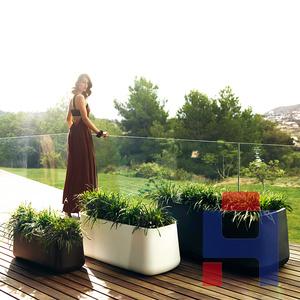 玻璃钢方形花盆花器