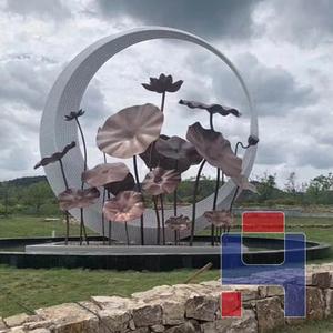 不锈钢水景圆环雕塑