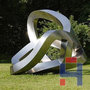园林不锈钢抽象雕塑