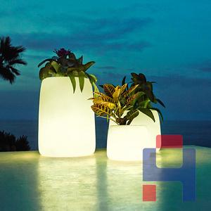 玻璃钢夜光花盆花器