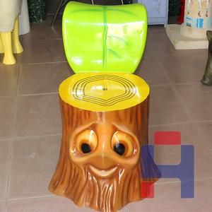 树桩坐凳雕塑