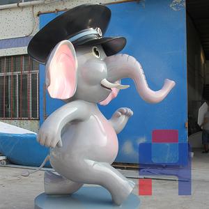 动漫小象雕塑